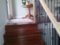 Custom Red Wood Stairs